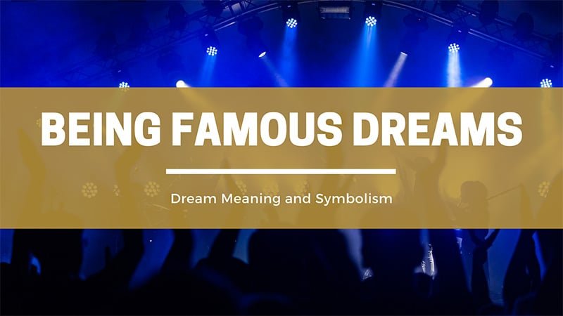 being famous dreams